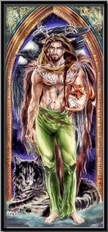 The Greenman  Cernunnos/Herne the Hunter... Herne...By Artist Unknown...