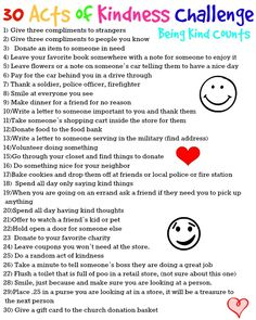 This challenge is only for the month of September but you don't need a challenge to be kind. Do it daily!