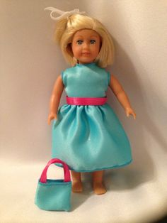 American Girl Doll Mini Doll Outfit and Matching Purse