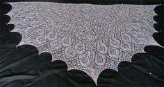 Omelet Shawl, pattern from Knitty. Beautiful work!