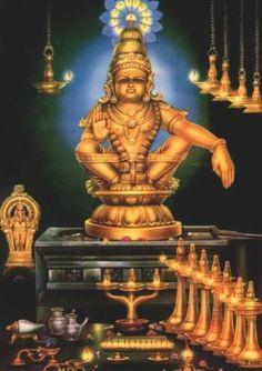 How Kerala Ayyappa Swamy Temple was formed, interesting facts about Sabarimala Ayyappa Swamy temple It is believed that Lord Ayyappa. Saraswati Goddess, Kali Goddess, Shiva Shakti, Durga, Lord Ganesha Paintings, Lord Shiva Painting, Ganesha Art, Lord Murugan Wallpapers, Lord Krishna Wallpapers