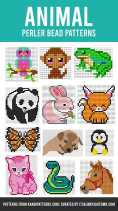 The GIANT list of Perler Bead Patterns {fuse beads, melty beads} - It's Always Autumn Perler Bead Disney, Pokemon Perler Beads, Diy Perler Beads, Perler Bead Art, Pearler Beads, Easy Perler Bead Patterns, Melty Bead Patterns, Perler Bead Templates, Beading Patterns