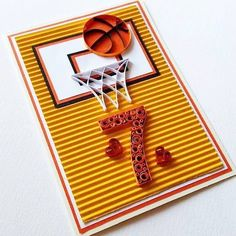Basketball Birthday Card  Happy Birthday Card  by Gericards
