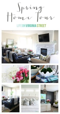 Spring Home Tour | Life On Virginia Street | So many gorgeous rooms with tons of DIY inspiration and projects