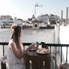 Buenos dias Sevilla #desayuno #breakfast #sevilla #yummy #roof #roofbar #espana