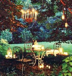A cozy evening setting for that garden tea party!