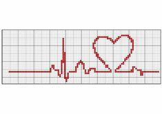 Cross-stitch Beat of My Heart Wedding Cross Stitch, Cross Stitch Heart, Cross Stitch Borders, Cross Stitching, Cross Stitch Embroidery, Cross Stitch Patterns, Cross Stitch Bookmarks, Cross Stitch Cards, Stitches Medical