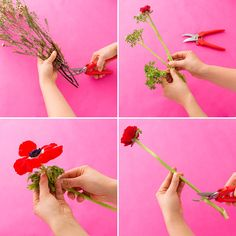 Follow this flower tutorial to learn how to create a stunning seasonal bouquet to give out on Valentine's Day.