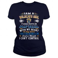 Tshirt Wildcat girls born in April fashion for men #tshirtforwomen #tshirtfashion #tshirtforwoment