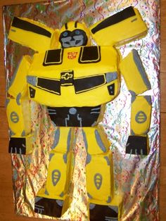 Bumblebee Transformer By sebrina on CakeCentral.com
