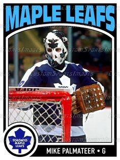 12x16 Goalie Poster - Mike Palmateer - Toronto Maple Leafs Hockey Games, Hockey Players, Ice Hockey, Toronto Maple Leafs, Nhl, Goalie Mask, Player Card, National Hockey League, Detroit Red Wings