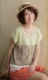 Ravelry: 214ss-02 Carta 2-way Cardigan -free- pattern by Pierrot (Gosyo Co., Ltd)
