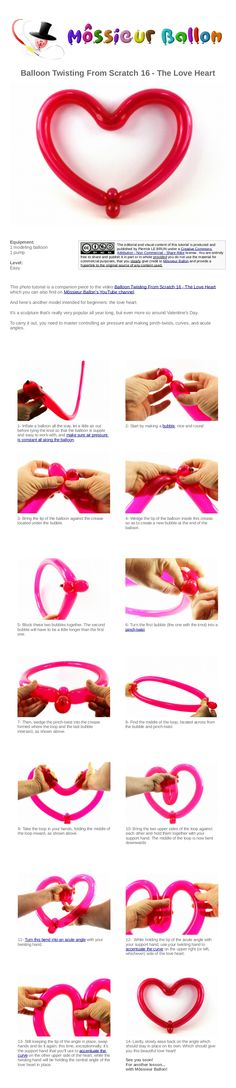 PDF Guide: Balloon Twisting From Scratch 16 - The Love Heart