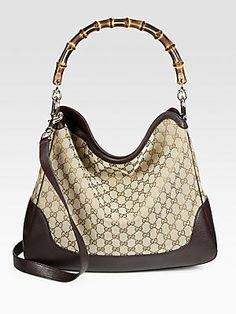 Gucci Diana Original GG Canvas Bamboo Shoulder Bag........$1420.00