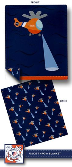 Coast Guard search and rescue helicopter throw blanket #USCG