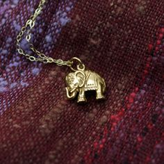 Gold Elephant Necklace $48 #jewelry