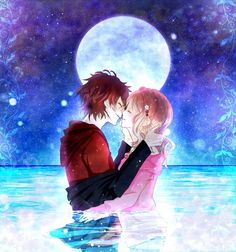 Ayato Sakamaki and Yui from Diabolik lovers