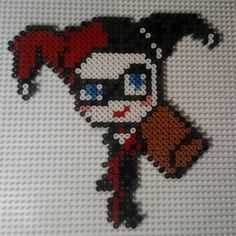 Harley Quinn perler beads by jennohjenn