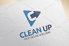 Clean Up - C Letter Logo by EngoCreative.com on @creativemarket