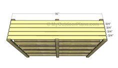 Attaching the shelf slats