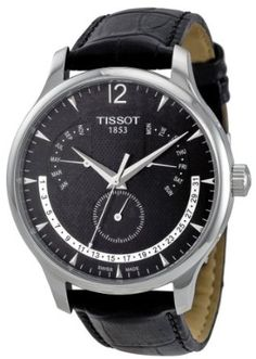 Tissot Men's Black Dial Watch Casual Watches, Cool Watches, Watches For Men, Wrist Watches, Selling Jewelry, Jewelry Stores, Tissot Mens Watch, Contemporary Engagement Rings, Premier Jewelry