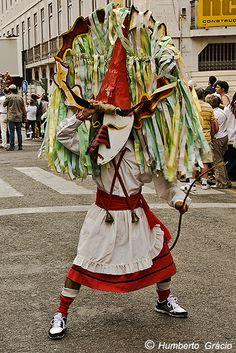 Caretos de Lagoa de Mira no V Desfile da Máscara Ibérica. 2010