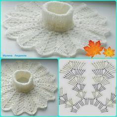 Crochet Basket Pattern, Crochet Diagram, Crochet Patterns, Crochet Scarves, Crochet Shawl, Crochet Baby, Crochet Neck Warmer, Knitting Machine Patterns, Crochet Collar