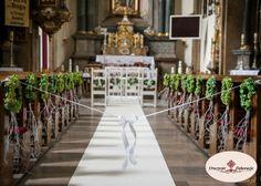 Decoration of churches. Dekoracje kościołów,dekoracja ławek na ślub.