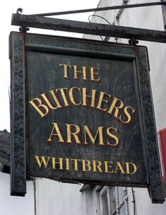 Plymouth, Royal William Yard Butchers Arms Pub Sign