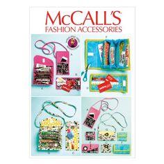 McCall Pattern Company M6768 Phone Purse, Rewards Card Wa...