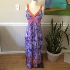 """Krista Lee boho maxi Gorgeous embellished dress with sequins and embroidery.  Pulls over head!  Excellent used condition!  Measures 51"""" long and 17"""" armpit to armpit.  100% rayon Krista Lee Dresses Maxi"""