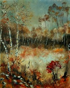 """Autumn 452111"" is magnificent autumn landscape by our December Artist of the Month @Pol Ledent, see more in his gallery at www.artistbe.com/artist-shop/?artistId=46. #art #ArtistBecome"