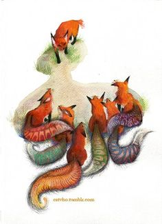 coloured tails
