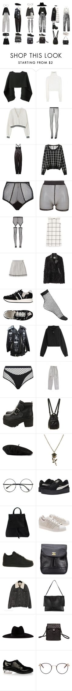 """""""Untitled #1107"""" by jayda-xx ❤ liked on Polyvore featuring BEVZA, Calvin Klein Collection, Comme des Garçons, Chicnova Fashion, Fleur du Mal, Bitching & Junkfood, Bohemian Society, MANGO, Acne Studios and Carven"""