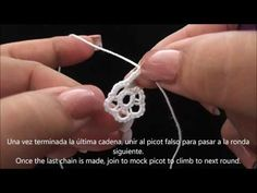 Lesson 10: How to Make a Folded Join in Tatting - YouTube