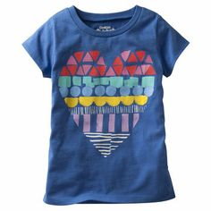OshKosh Originals Graphic Tee. A big heart in bright colors makes her day a little more lovely.