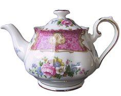 Royal Albert LADY CARLYLE Medium 4 Cup Tea Pot, c1940's