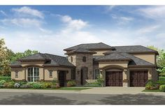 Brigsby 6112 Brk/Stone/Stucco by Village Builders at Woodforest: Classic and Kingston Collections