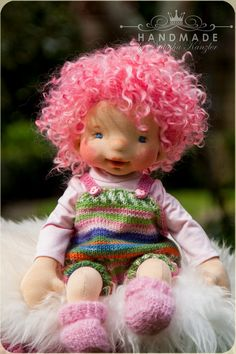 Waldorf Inspired Baby-doll 15 inches Fiber Doll by kiwinestling