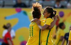 Blog Esportivo do Suíço: Cristiane desencanta com cinco, Brasil faz 7 a 1 no futebol feminino do Pan