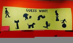 Guess Who Book Character Silhouette Display