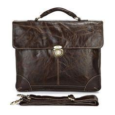 """Handmade Vintage Leather Briefcase / Leather Messenger Bag / 13"""" 15"""" MacBook 14"""" 15"""" Laptop Bag - n69"""