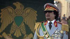 El líder libio Muammar Gaddafi durante el aniversario de su ascenso al poder en Trípoli, 1 de septiembre de 2009.