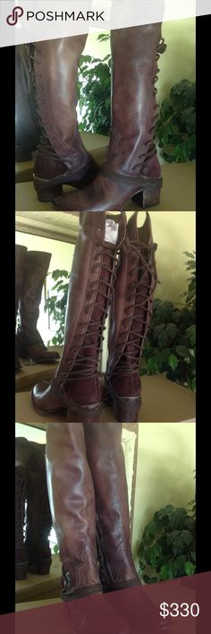Freebird by Steven Coal Lace Boot Freebird by Steven Coal Plum Wash Leather Lace/Zip Boot.  Brand new w/box.  No trades, no lowballs. Steve Madden Shoes Lace Up Boots