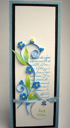 Forget-me-not ...inspired by quilterlin by ..::aga::.., via Flickr