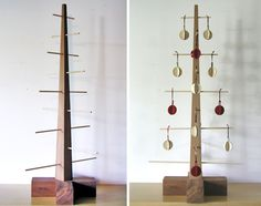 Jewelry display option - 10 Modern Wooden Christmas Trees    If Its Hip, Its Here