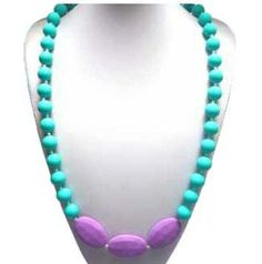 FREE SHIPPING on this Beautiful Turquoise and by MajackalCreations, $22.00 Mothers Day Special, Beaded Necklace, Necklaces, Turquoise And Purple, Teething Necklace, Free Shipping, Trending Outfits, Unique Jewelry, Handmade Gifts