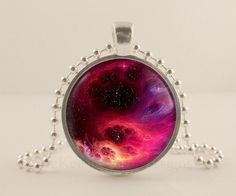 Astronomy Jewelry | ... , Astronomy glass and metal Pendant necklace Jewelry.- McKee Jewelry