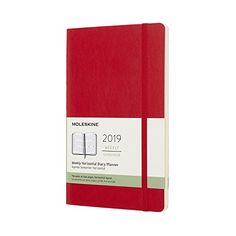 2019 Moleskine Horizontal Scarlet Red Large Weekly 12-Month Diary Soft