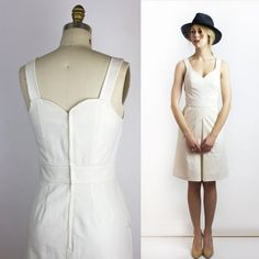 814fba6c Hamptons Organic cotton & Linen dress, Minimalist Ethical fashion - Size  MEDIUM